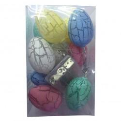 10 Πολύχρωμα λαμπάκια αυγουλάκια 00001223