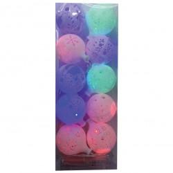 10 Πολύχρωμα λαμπάκια χιονόμπαλες 00001224