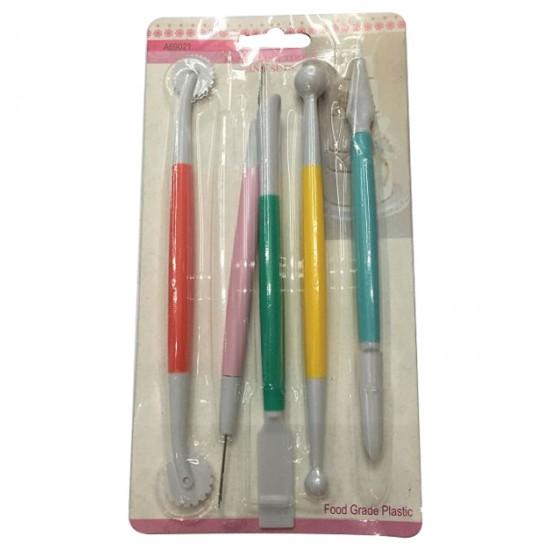 Σετ 5 εργαλεία διαμόρφωσης ζαχαρόπαστας 00101466