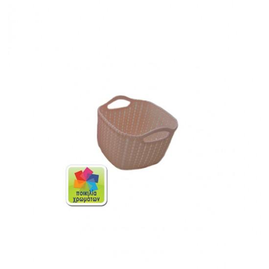 Πλαστικό καλάθι τετράγωνο 00105039