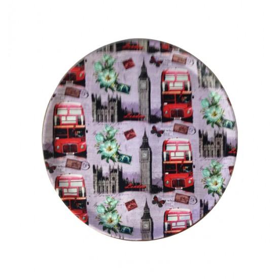 Πλαστικός στρογγυλός δίσκος σερβιρίσματος 30,5cm 00109298
