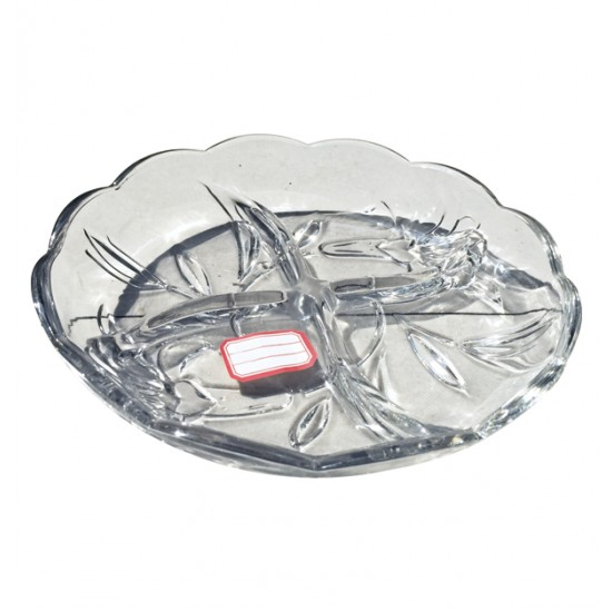 Στρογγυλή γυάλινη πιατέλα για ξηρούς καρπούς 00203186