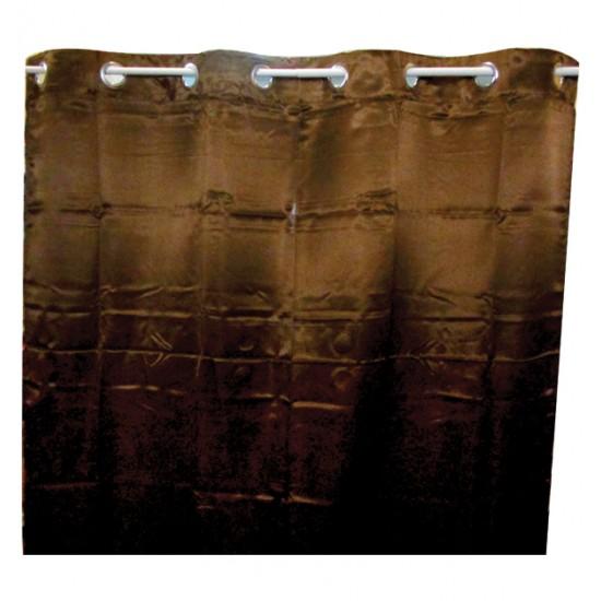 Καφέ σατέν κουρτίνα 00403302