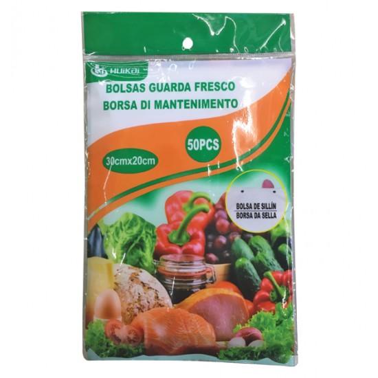 Σετ 50 σακούλες τροφίμων 30x20cm 00405182