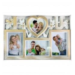 Πλαστική κορνίζα κολλάζ για 4 φωτογραφίες 10401255