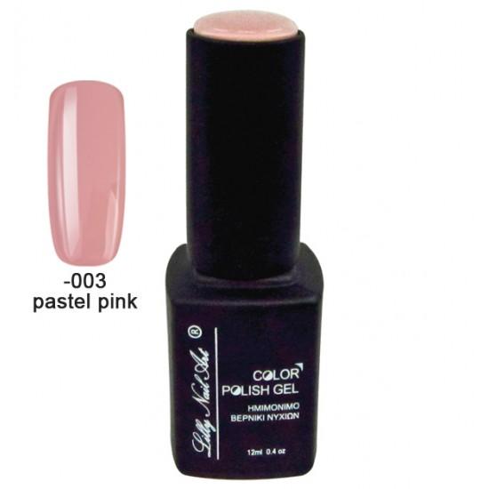 Ημιμόνιμο τριφασικό μανό 12ml - Pastel pink 40504008-003