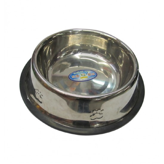 Στρογγυλό μεταλλικό πιατάκι-μπωλ σκύλου 22cm 10501404