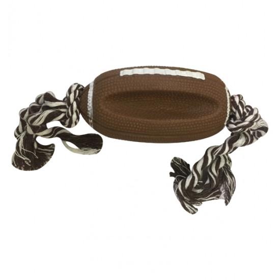 Παιχνίδι σκύλου μπάλα με σχοινί 13cm 10501592