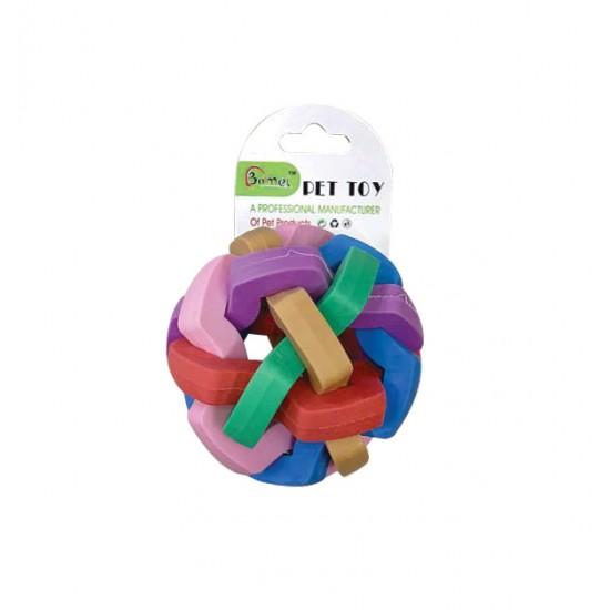 Παιχνίδι σκύλου πολύχρωμη μπάλα με κουδουνάκι  7cm 10501649