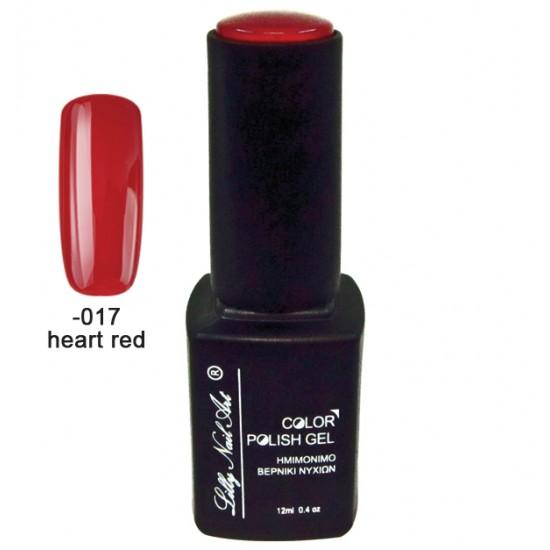 Ημιμόνιμο τριφασικό μανό 12ml - Heart red 40504008-017