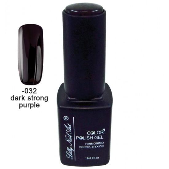 Ημιμόνιμο τριφασικό μανό 12ml - Dark strong purple 40504008-032