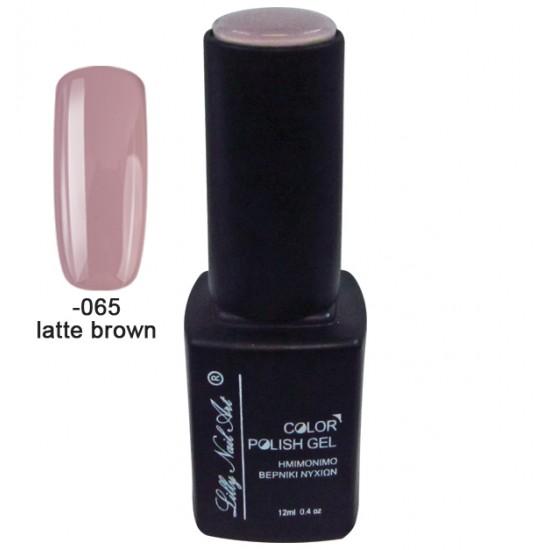 Ημιμόνιμο τριφασικό μανό 12ml - Latte brown 40504008-065