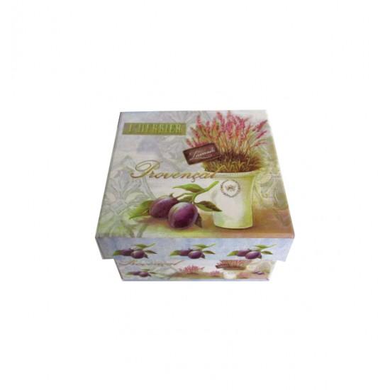 Χάρτινο τετράγωνο κουτί αποθήκευσης - Λεβάντα 11401191