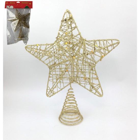 Συρμάτινη κορυφή Χριστουγεννιάτικου δέντρου 00000948