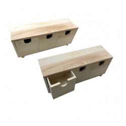Ξύλινη αλουστράριστη συρταριέρα 11,3cm 20601358