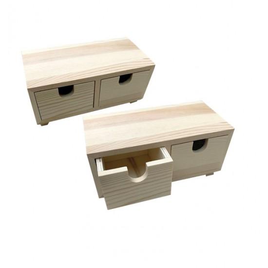 Ξύλινη αλουστράριστη συρταριέρα 8cm 20601359