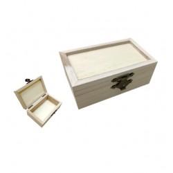 Ξύλινο αλουστράριστο κουτί Υ6 x Μ4,8 x Π10cm 20601362