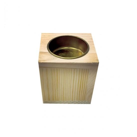 Ξύλινο κηροπήγιο για ρεσό Υ6 x Μ5,8 x Π5,8 20601363