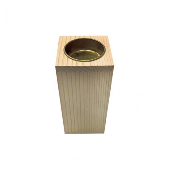 Ξύλινο κηροπήγιο για ρεσό Υ12 x Μ5,8 x Π5,8 20601364