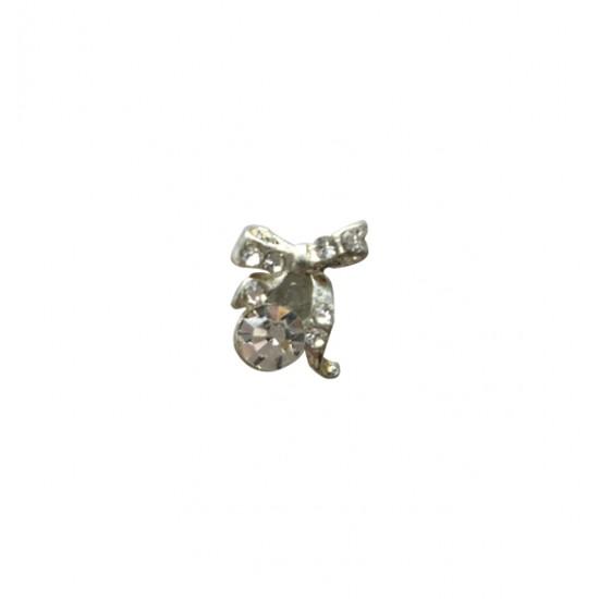 Μεταλλικό διακοσμητικό νυχιών φιόγκος 40502057-203