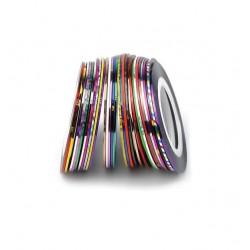 Πολύχρωμη γυαλιστερή διακοσμητική ταινία νυχιών 1mm 40502113-12