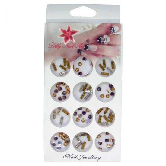 Κασετίνα με διακοσμητικά στρασάκια νυχιών 40502128