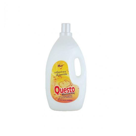 Υγρό πλυντηρίου Questo 4lt Λευκό σαπούνι Μασσαλίας 40605003