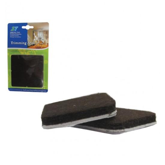 Σετ 8 τετράγωνα αυτοκόλλητα προστατευτικά τσοχάκια επίπλων 30501211