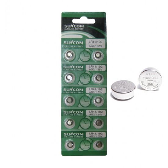 Συσκευασία 10 μπαταρίες λιθίου κουμπία LR41 00600024