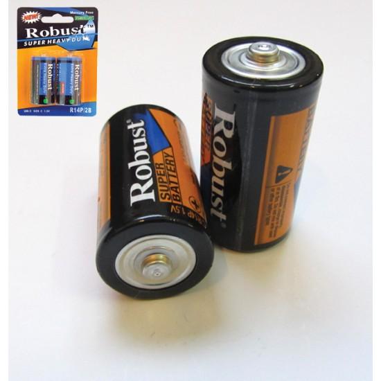 Συσκευασία 2 απλές μπαταρίες R14-C 00600007
