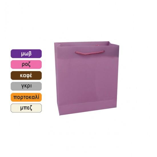 Πλαστική μονόχρωμη σακούλα τσάντα δώρου 11x14cm 11401064