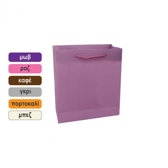 Πλαστική μονόχρωμη σακούλα τσάντα δώρου 27x23cm 11401066