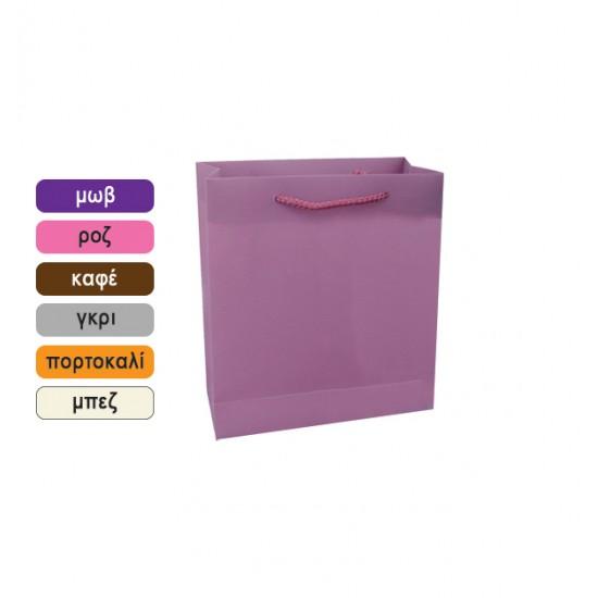 Πλαστική μονόχρωμη σακούλα τσάντα δώρου 34x26cm 11401067