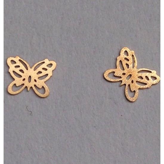 Σετ 50 μεταλλικά διακοσμητικά νυχιών πεταλούδες 40502059-12