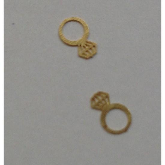 50 μεταλλικά διακοσμητικά νυχιών χρυσά δαχτυλίδια 40502059-18