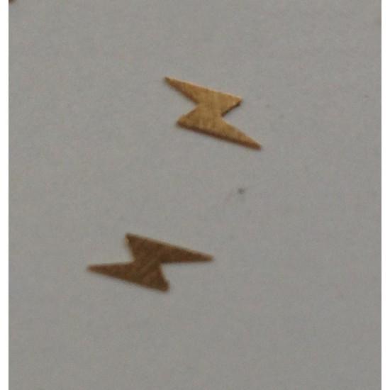 50 μεταλλικά διακοσμητικά νυχιών χρυσοί κεραυνοί 40502059-20