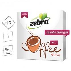 Σετ 40 χαρτοπετσέτες με σχέδιο Coffee 28x28cm 70501207
