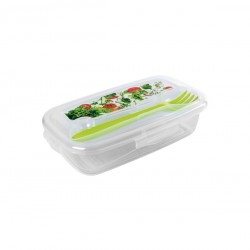 Διάφανο πλαστικό φαγητοδοχείο 0,5lt με μαχαιροπήρουνο 78817968