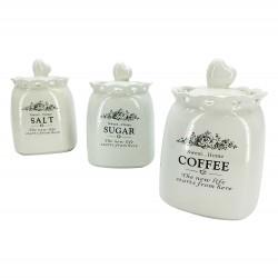 Βάζα πορσελάνινα για αλάτι, ζάχαρι και καφέ 70608160