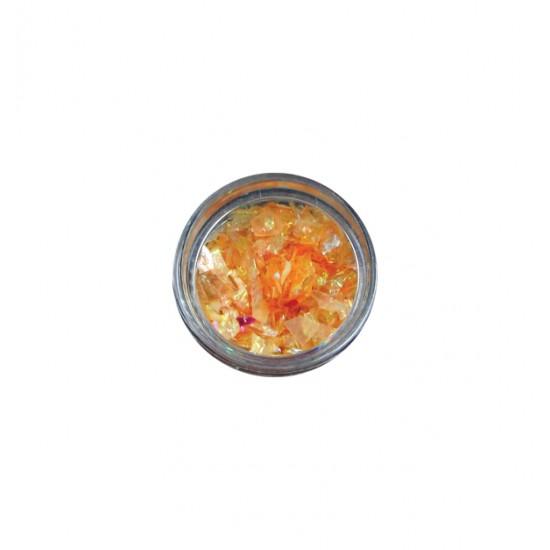 Βαζάκι με πορτοκαλί νιφάδες ονυχοπλαστικής 40501715-8