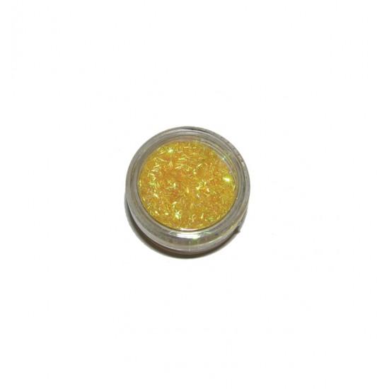 Κίτρινες παγιέτες κλωστές διακοσμητικά νυχιών 40502004-3