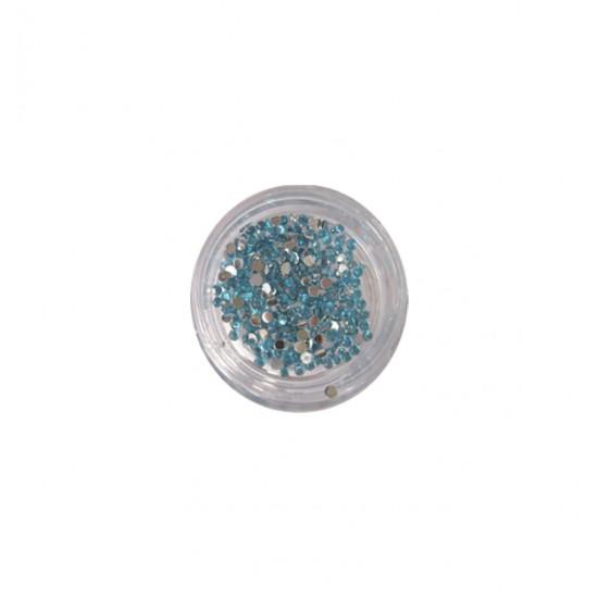 400 θαλασσί στρας στρογγυλά διαμαντάκια 40502009-3