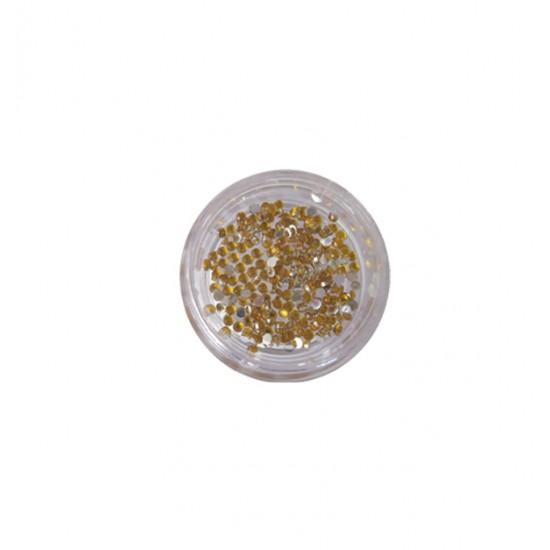 400 χρυσά στρας στρογγυλά διαμαντάκια 40502009-5