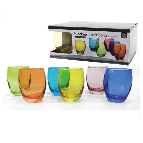 Σετ 6 ποτήρια νερού χρωματιστά 370ml 77616803