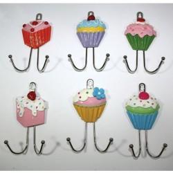 Μεταλλική κρεμάστρα Cupcake με 2 γαντζάκια 70603231