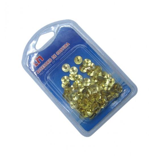 Σετ 80 χρυσαφί πινέζες σε μπλίστερ 30101329