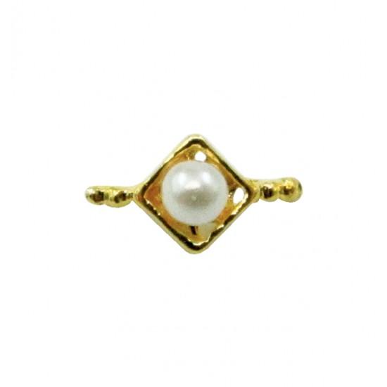 Μεταλλικό διακοσμητικό νυχιών με πέτρα 40502057-D09