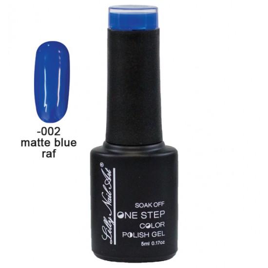 Ημιμόνιμο μανό one step 5ml - Matte Blue Raf 40504002-002