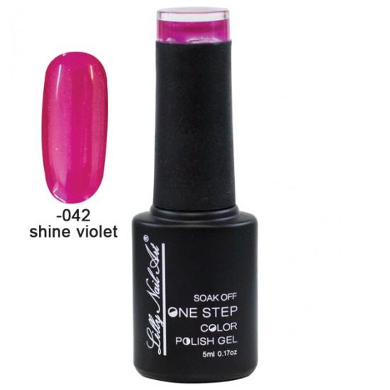 Ημιμόνιμο μανό one step 5ml - Shine violet 40504002-042
