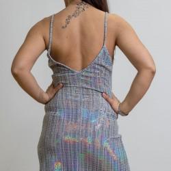 A20 Anel lux μεταλιζέ μινι φόρεμα - 57429